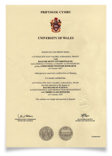 Diploma de University of Wales