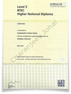 Diploma de Edexcel